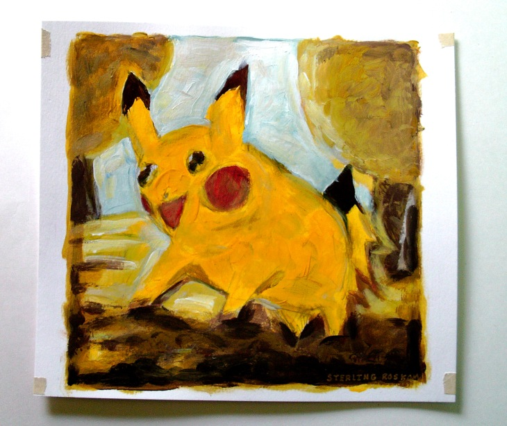Pikachu and trees