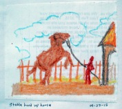 horse and stable hand