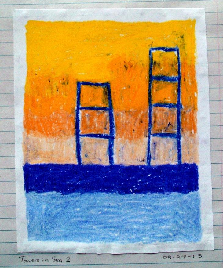 towers on sea