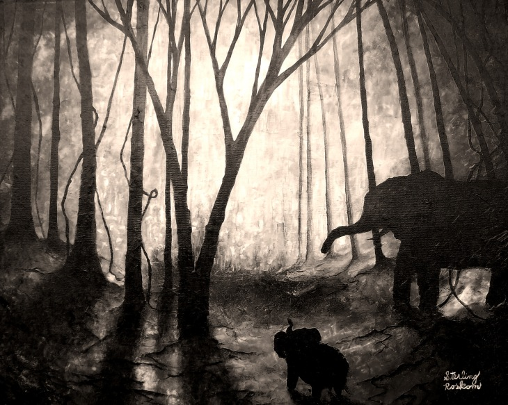 0178.trees, elephants, and their shadows.grayscale